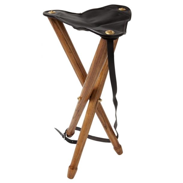Stilren Trebenet Jagtstol i Træ (65 cm høj)