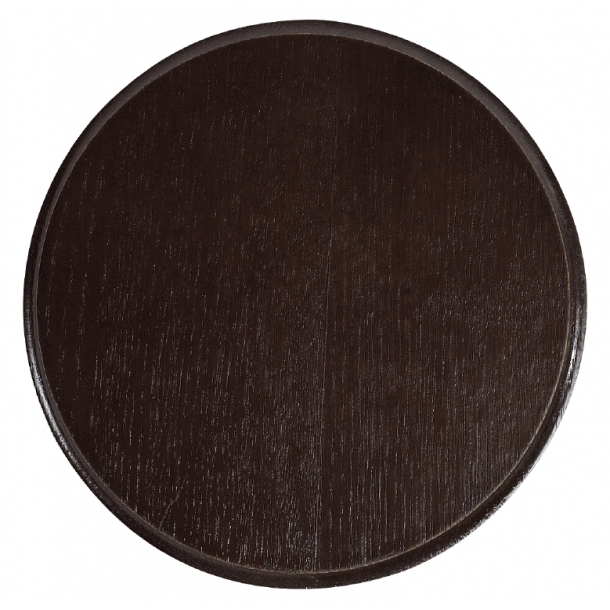Vildsvineplade i Mørkt Træ (Diameter 16 cm)