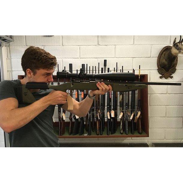 Winchester 70 .6mm BR i Maj. John Plaster skæfte